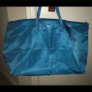 NWT Tumi Blue Canvas Tote Bag